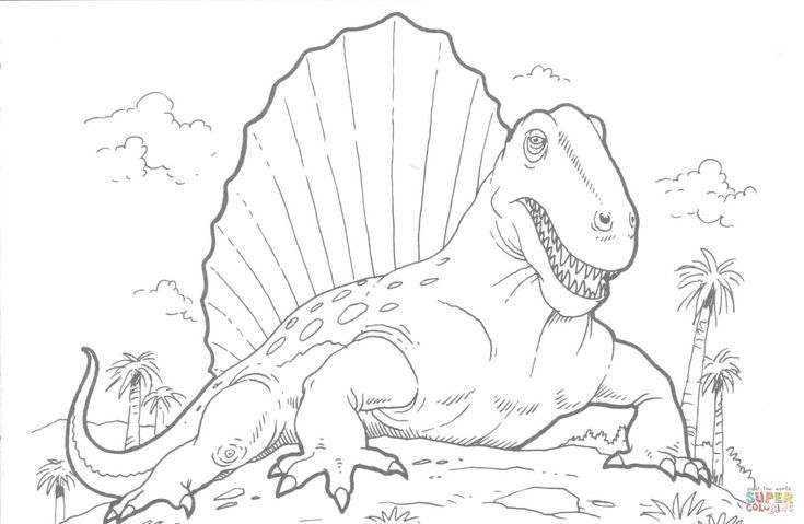 Dimetrodon Ausmalbilder Ausmalbilder Dimetrodon Animal Coloring Pages Dinosaur Coloring Pages Dinosaur Coloring
