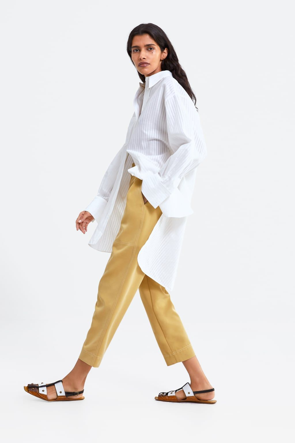 a79e83c243 BUTTONED SLOUCHY PANTS - View all-PANTS-WOMAN | ZARA United States ...