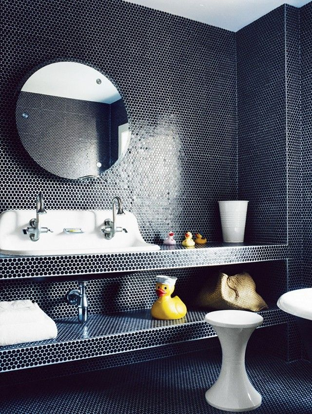Trend Alert Penny Round Tiles Penny Tile Circular Mirror And
