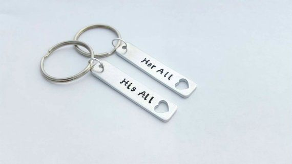 Personalized Keychains for Couples, Christmas Gift Boyfriend