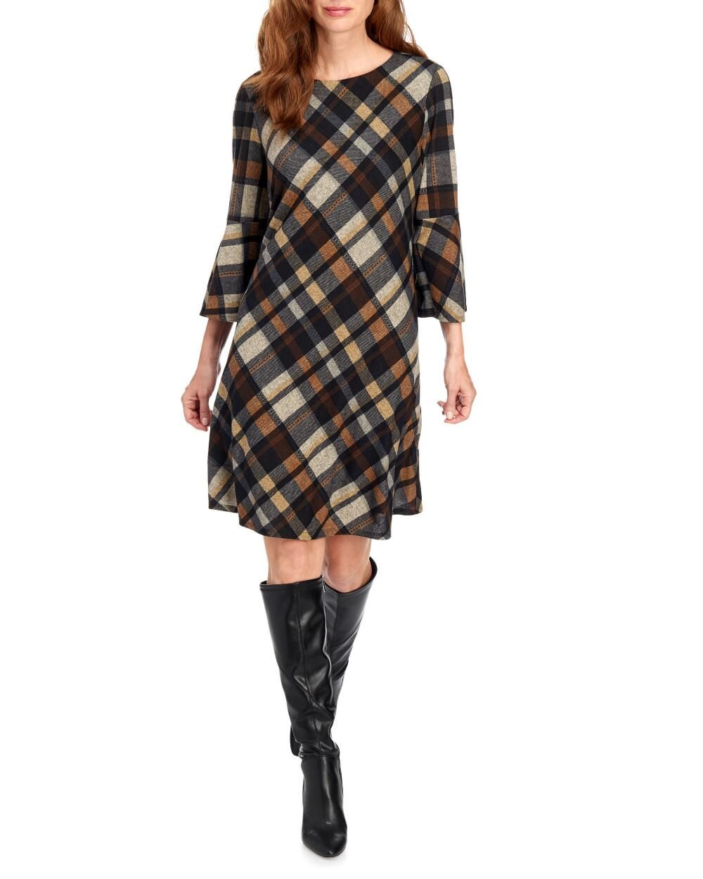 Pin By Allison Scarpone On B A C K T O S C H O O L Plaid Dress Fall Long Sleeve Sweater Dress Long Sleeve Tee Dress [ 1250 x 1000 Pixel ]