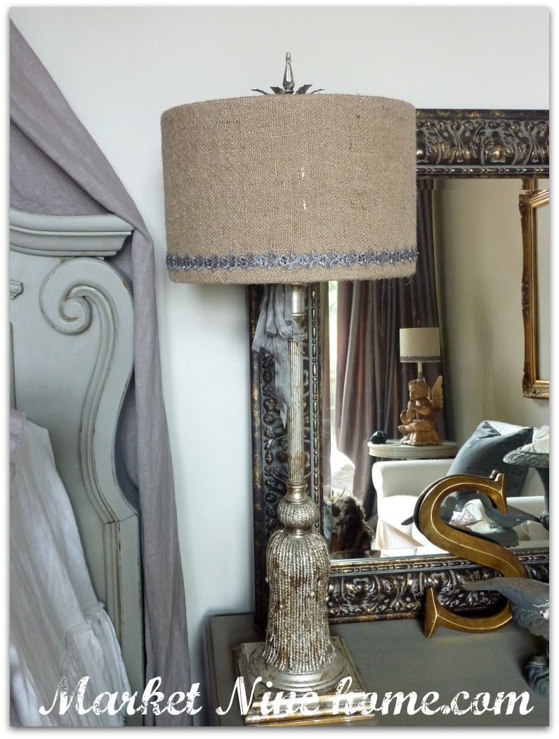 Covering a lamp shade decor pinterest burlap lampshade diy covering a lamp shade aloadofball