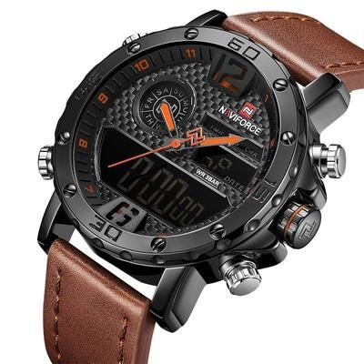 e88e3aad21cd Mens Watches To Luxury Brand Men Leather Sports Watches NAVIFORCE Men' -  sheheonline