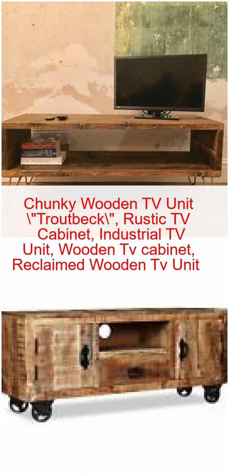 Chunky Wooden Tv Unit In 2020 Tv Mobel