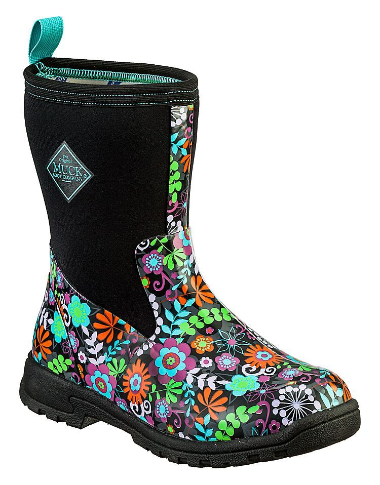 5a1f858e4ffc The Original Muck Boot Company® Breezy Mid Waterproof Boots for Ladies -  Black Floral