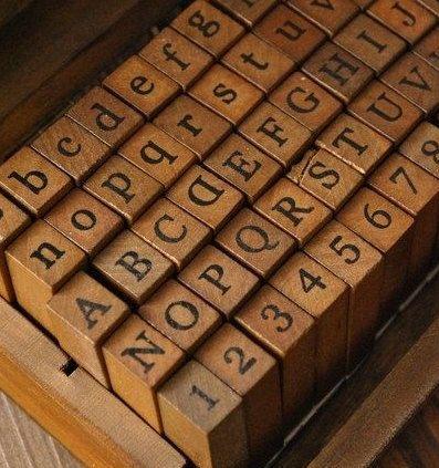Vintage Alphabet Stamps...
