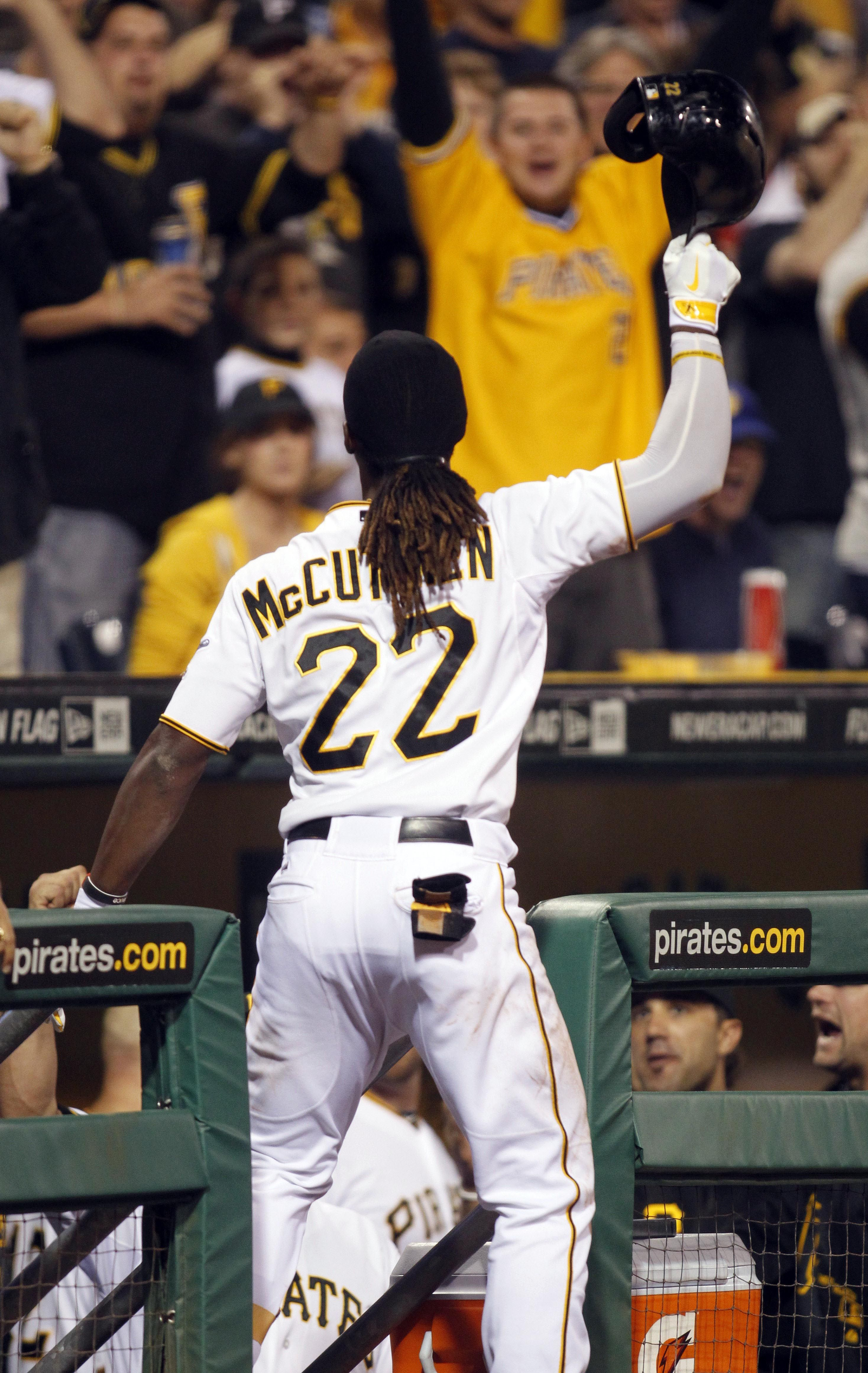 CrowdCam Hot Shot: Pittsburgh Pirates Center Fielder Andrew McCutchen Takes  A Curtain Call After Hitting
