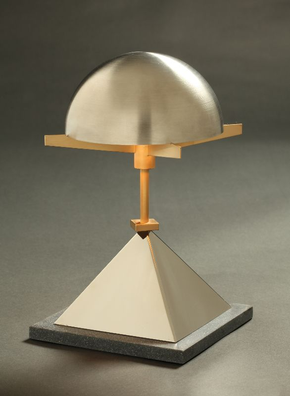 Garry Knox Bennett Table Lamp Stainless Steel Dome Nickel Plated Brass Base 10 25 X 6 X 6 2009 Lamp Table Lamp Furniture