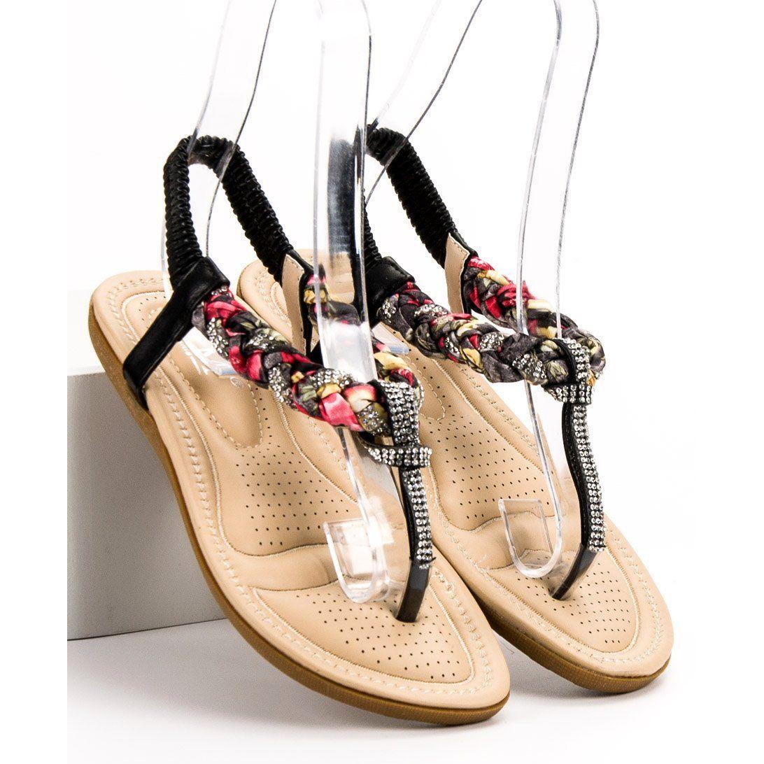 Cm Paris Modne Sandały Japonki czarne | Japonki, Sandały i Buty
