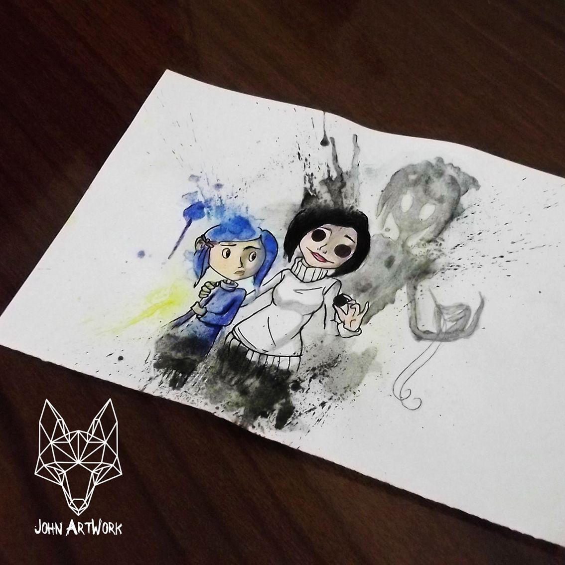 #Coraline #watercolor #aquarela #desenho #drawing #john ...