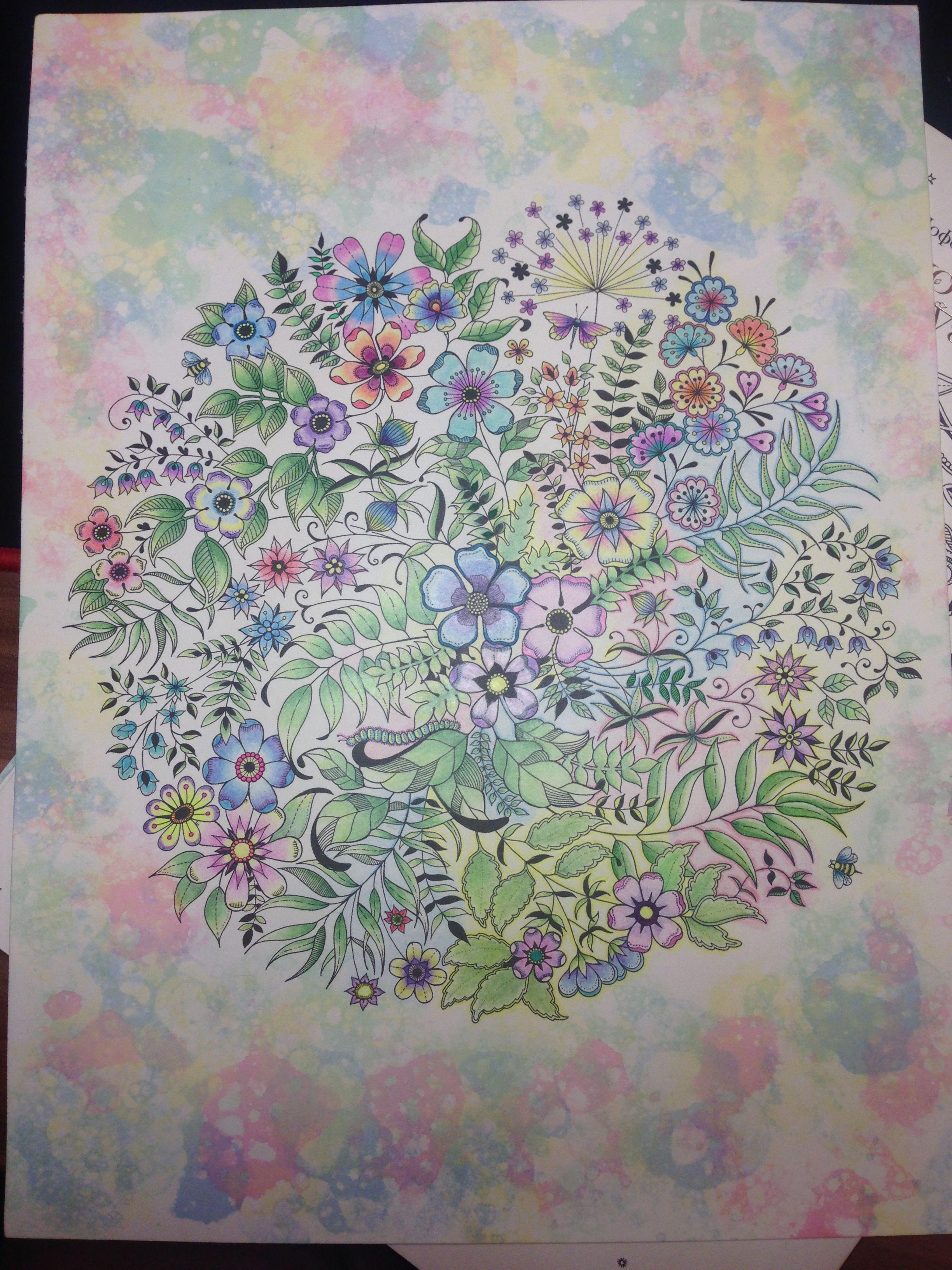 #джоанна бэсфорд #таинственный сад | Идея для раскраски