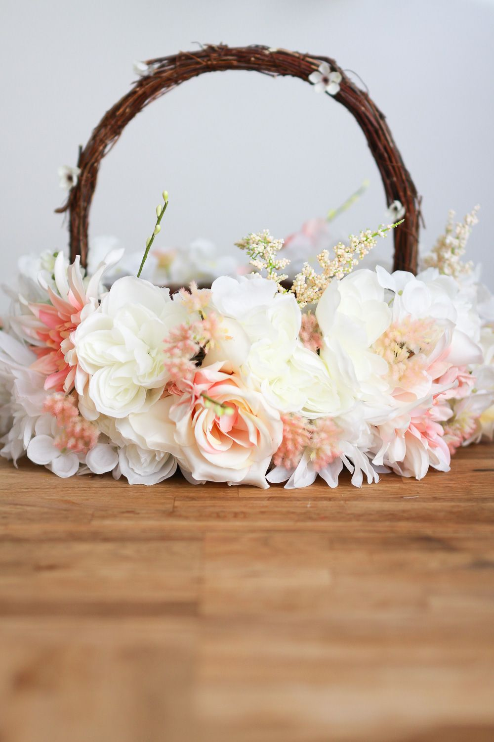 A floral easter basket easter baskets easter and decorating a floral easter basket diy a beautiful basket to decorate for easter for a childrens easter egg hunt or for a weddings flower girlboy take a look izmirmasajfo