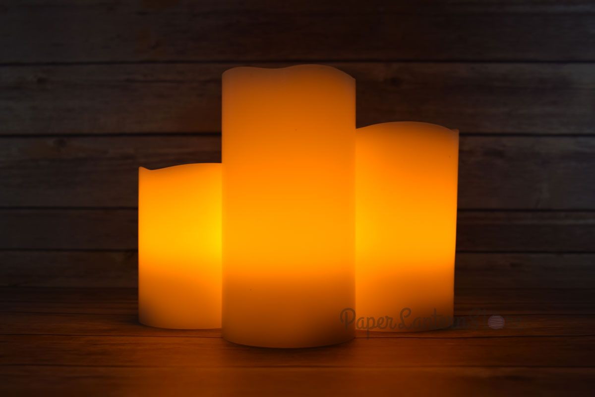 Realistic wax flameless led candle light w remote timer pack