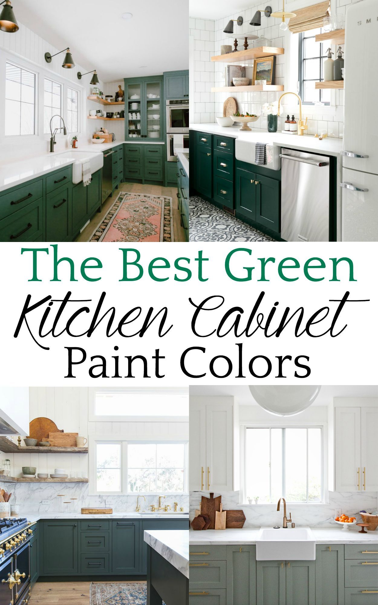 A roundup of the best green kitchen paint colors