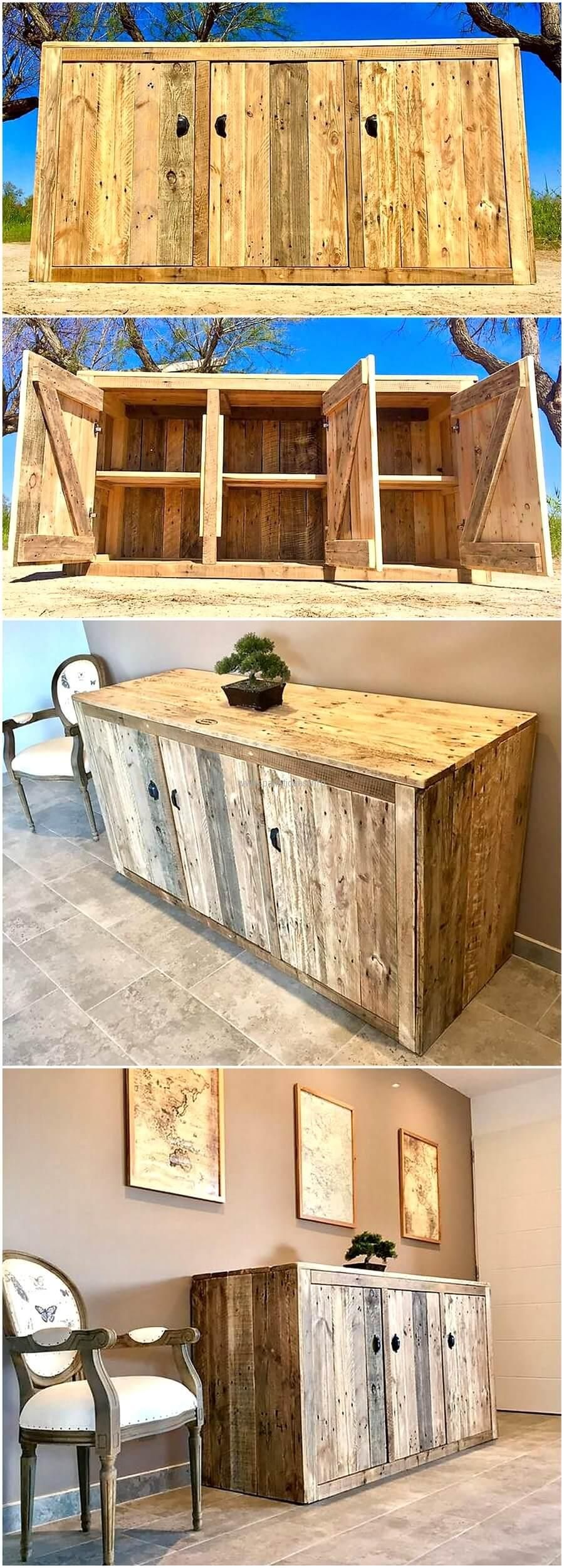 Recycled Pallets Entryway Giant Table With Drawers Home