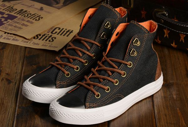 Converse Shoes Outlet Converse Black High Tops Chuck Taylor All Star Mens  Shoes -