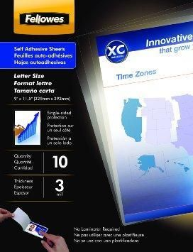 Fellowes Inc Laminating Sheets Self Adhesive 9x12 3mi Fellowes Lettering Adhesive