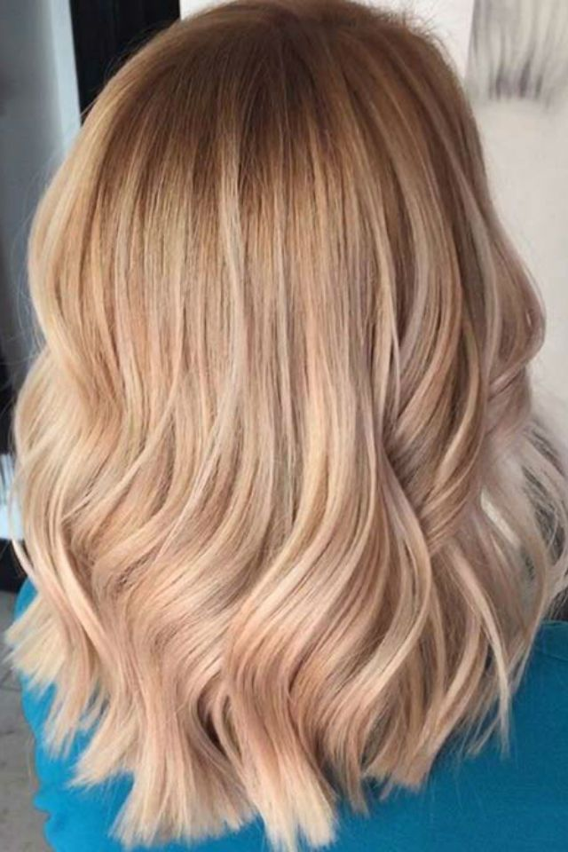 36 Blonde Balayage With Caramel Honey Copper Highlights Blonde