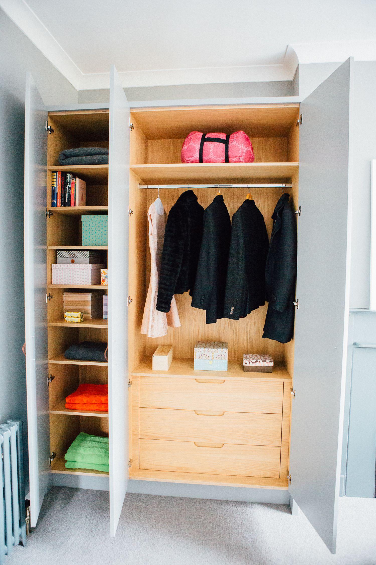 wardrobe interior made from oak veneered birch ply interiors rh pinterest co uk