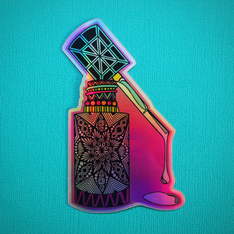 Nail polish waterproof sticker hydroflask aesthetic