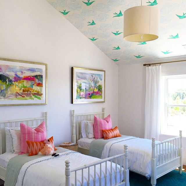 daydream green on a little girls room ceiling room by