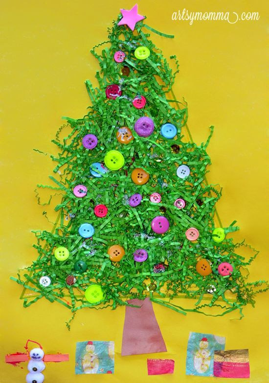Easy Christmas Craft Ideas For Kids To Make Part - 19: Christmas Tree