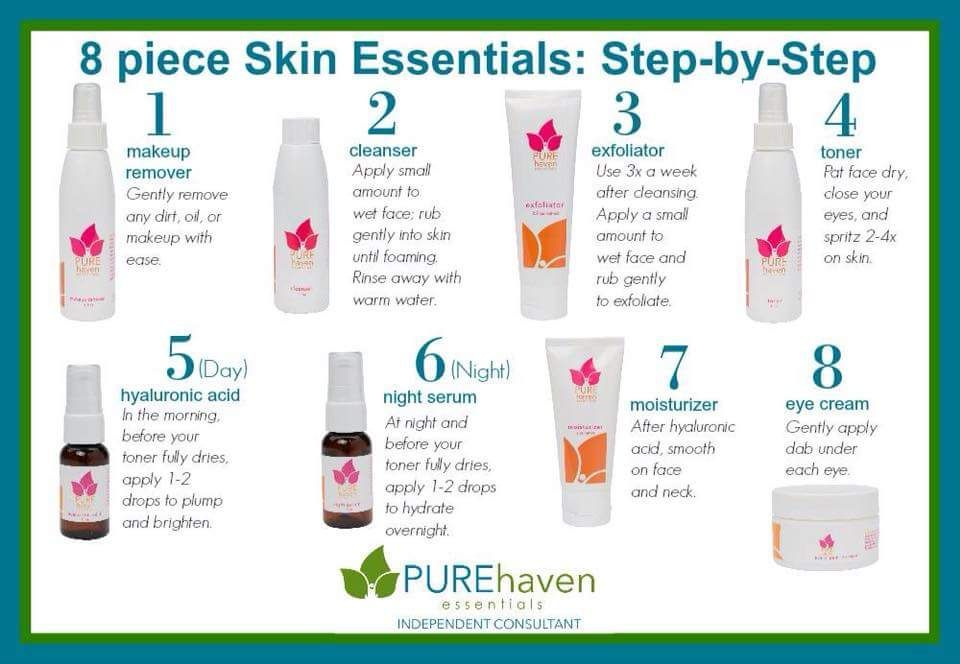 How To Use Our Pure Haven Skin Care Set Www Purehavenessentials Com Linneablake Pure Products Skin Essentials Skincare Set