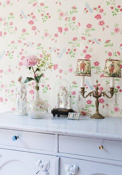 wallpaper floral home decor inspiration cottage style rh pinterest com