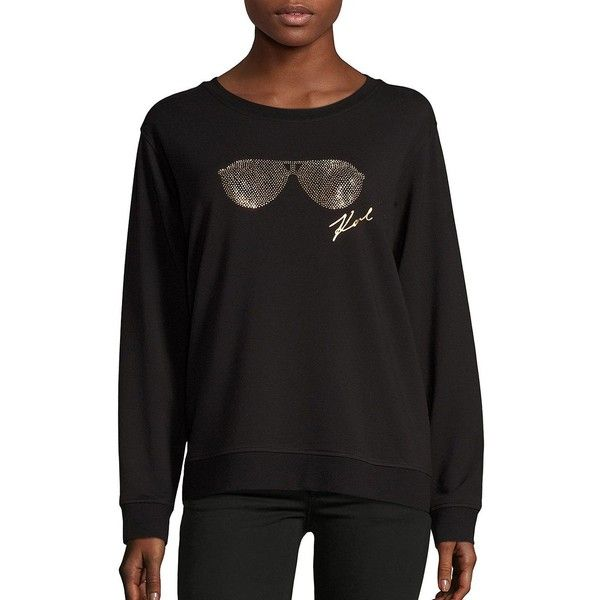 Karl Lagerfeld Paris Womens Crewneck Sweatshirt Sweatshirt