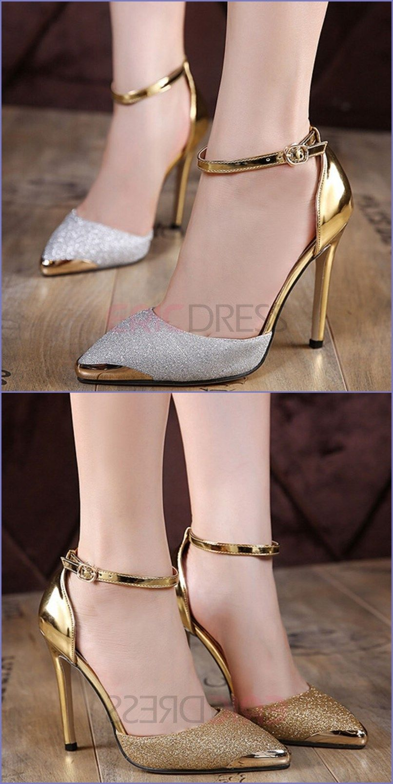 953f74c3ab21 Ericdress Luxurious Metal sequins Point Toe Pumps
