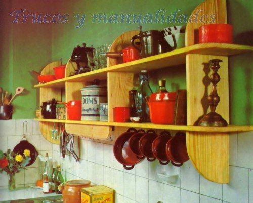 El material b sico para esta estanter a de cocina son las - Como hacer estantes de cocina ...