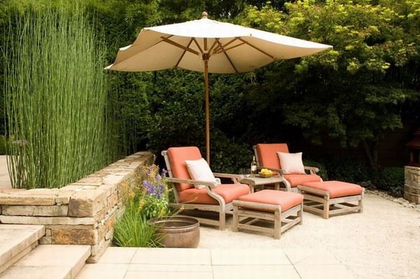 outdoor umbrella chaise lounge small patio set home decoration rh pinterest es