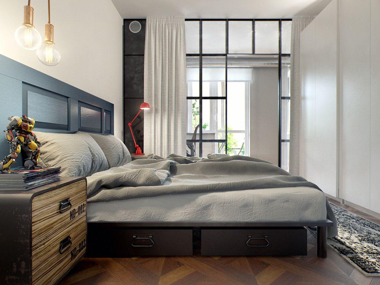Un perfetto ed eclettico appartamento per single: 69 metri quadri ...