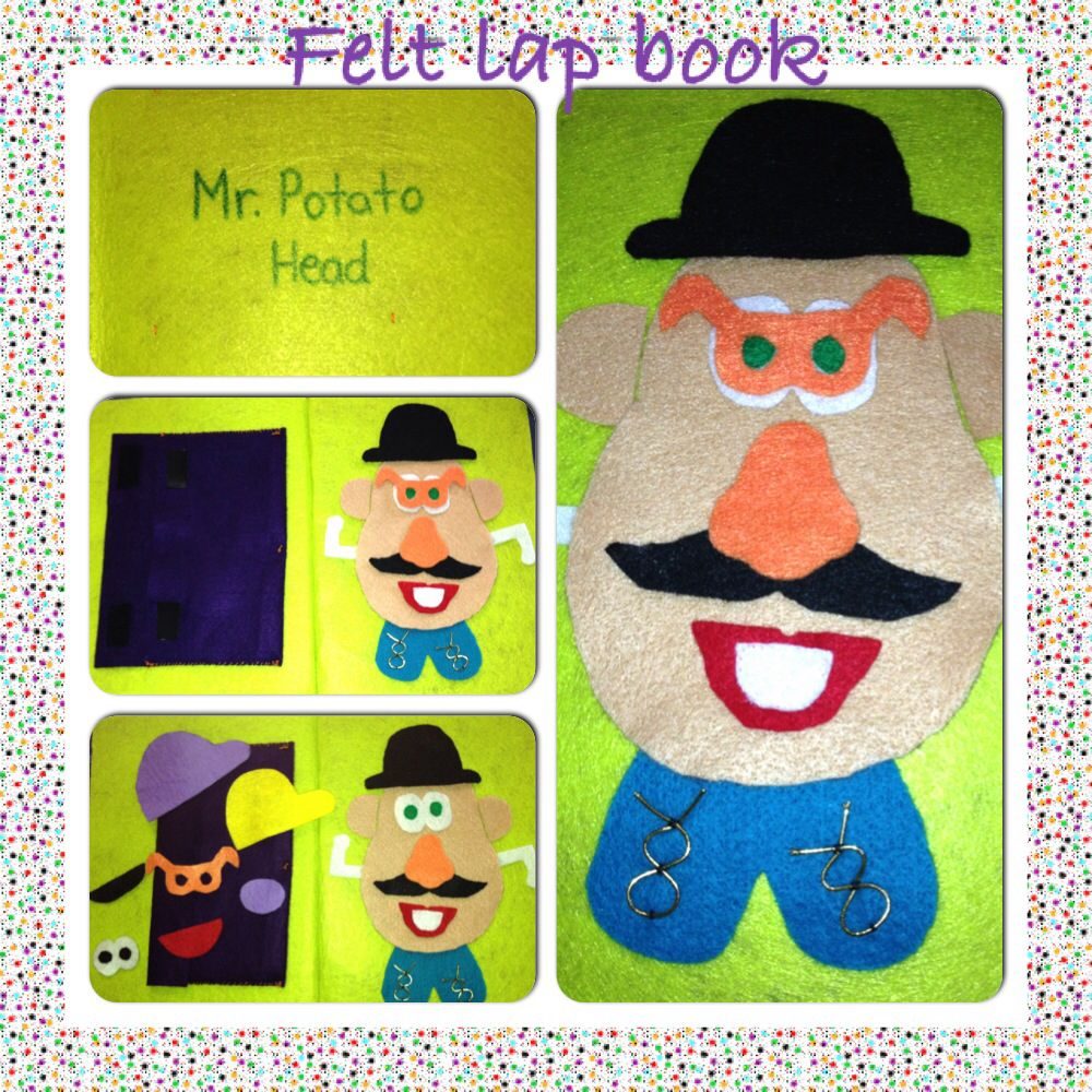 Mr. Potato Head felt lap book.
