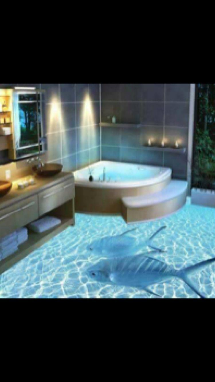 3d Ceramic Tiles Fish Tank Portable Fish House Fish House