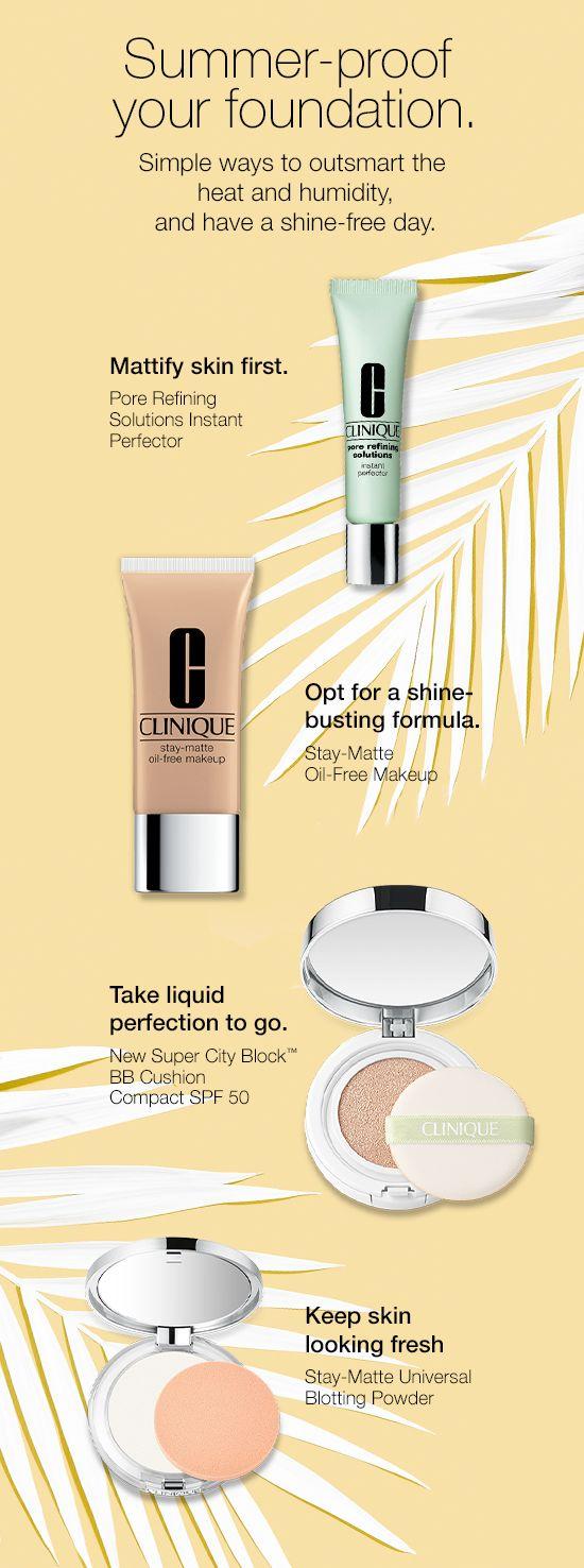 Foundation Oil free makeup, Makeup clinique, Makeup