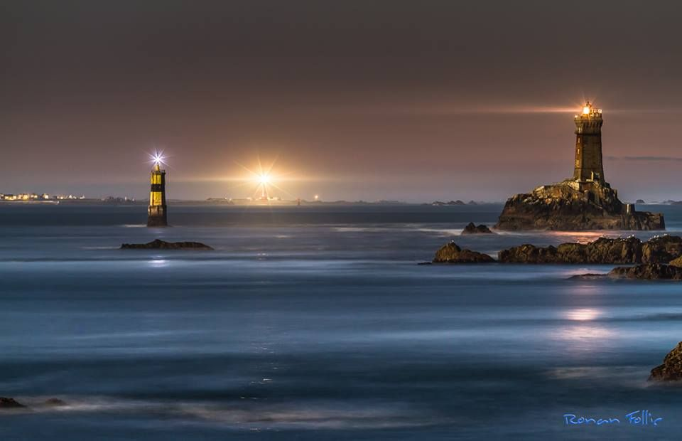 Lighthouses Of Iroise Raz De Sein De Nuit Photographie Phare Photos