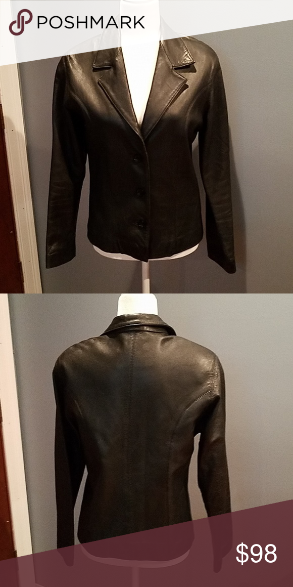 040f56835551a BISOU BISOU lamb skin leather jacket Super soft with torn lining in right  armpit. Bisou BISOU Jackets & Coats Blazers