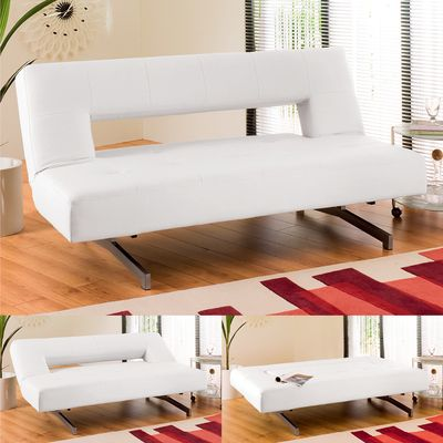 Dwell Pisa Sofa Bed In White Adding To The Lofty Feel Of Our