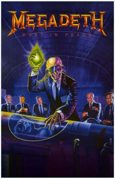 Megadeth Rust In Peace Poster 11x17 Rock Album Covers Metal Albums Album Cover Art