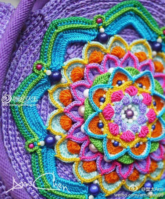 Mandala Alluncinetto Spiegazioni E Schemi 5 Crochet Crochet