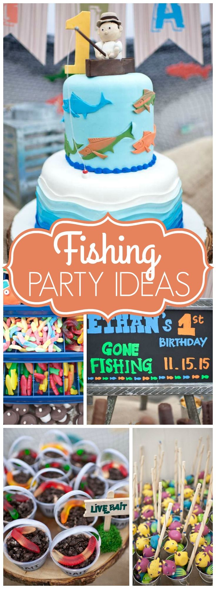 "gone fishing / birthday ""ethan's gone fishing 1st birthday party"