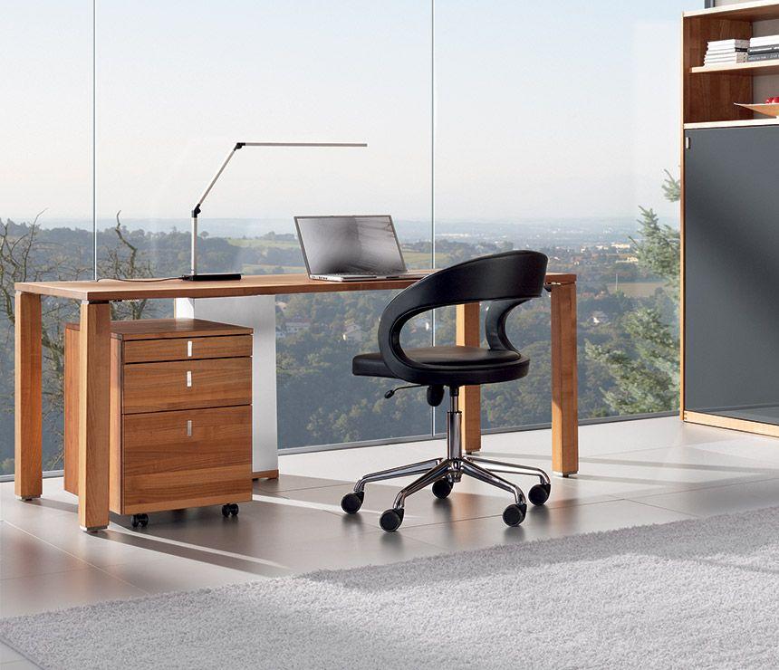 luxury modern desk team7 cubus office table desk solid wood rh pinterest com