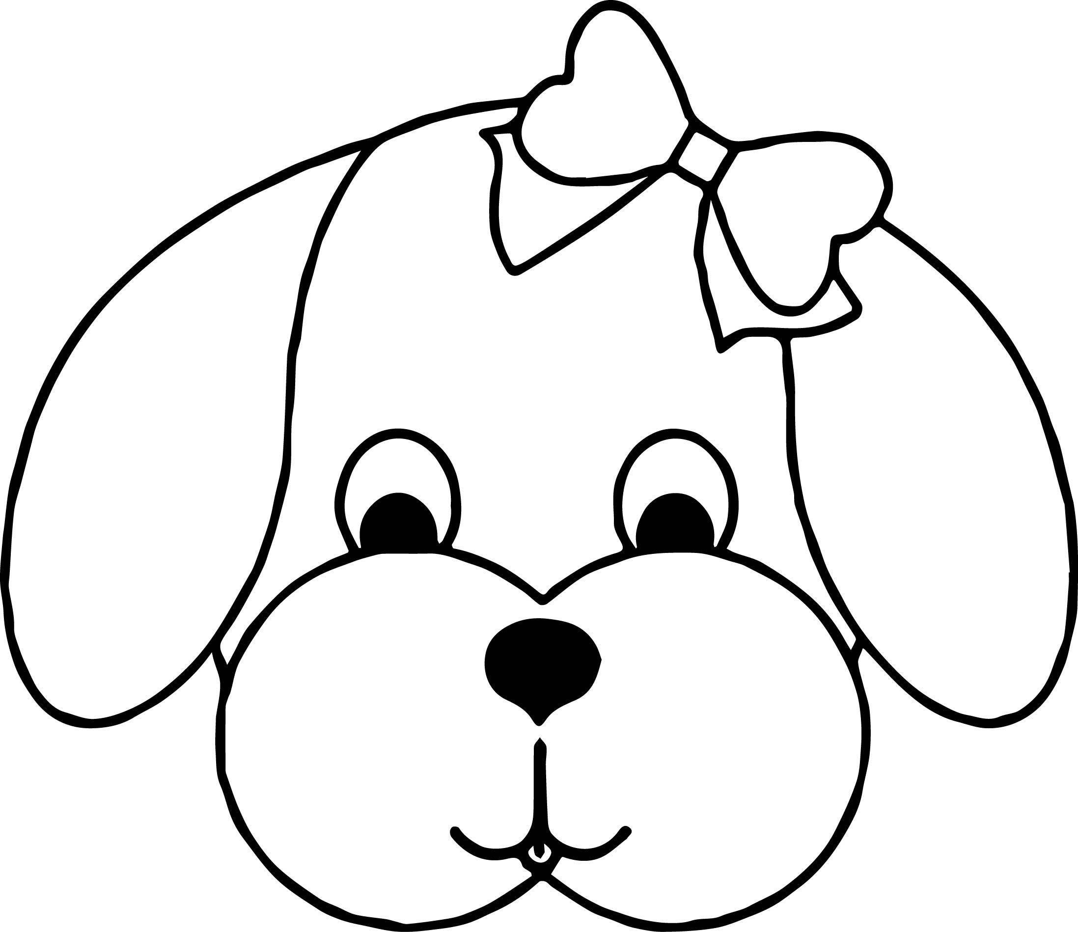 Malvorlage Hundekopf   Ausmalbilder Vorlagen für Kinder ...