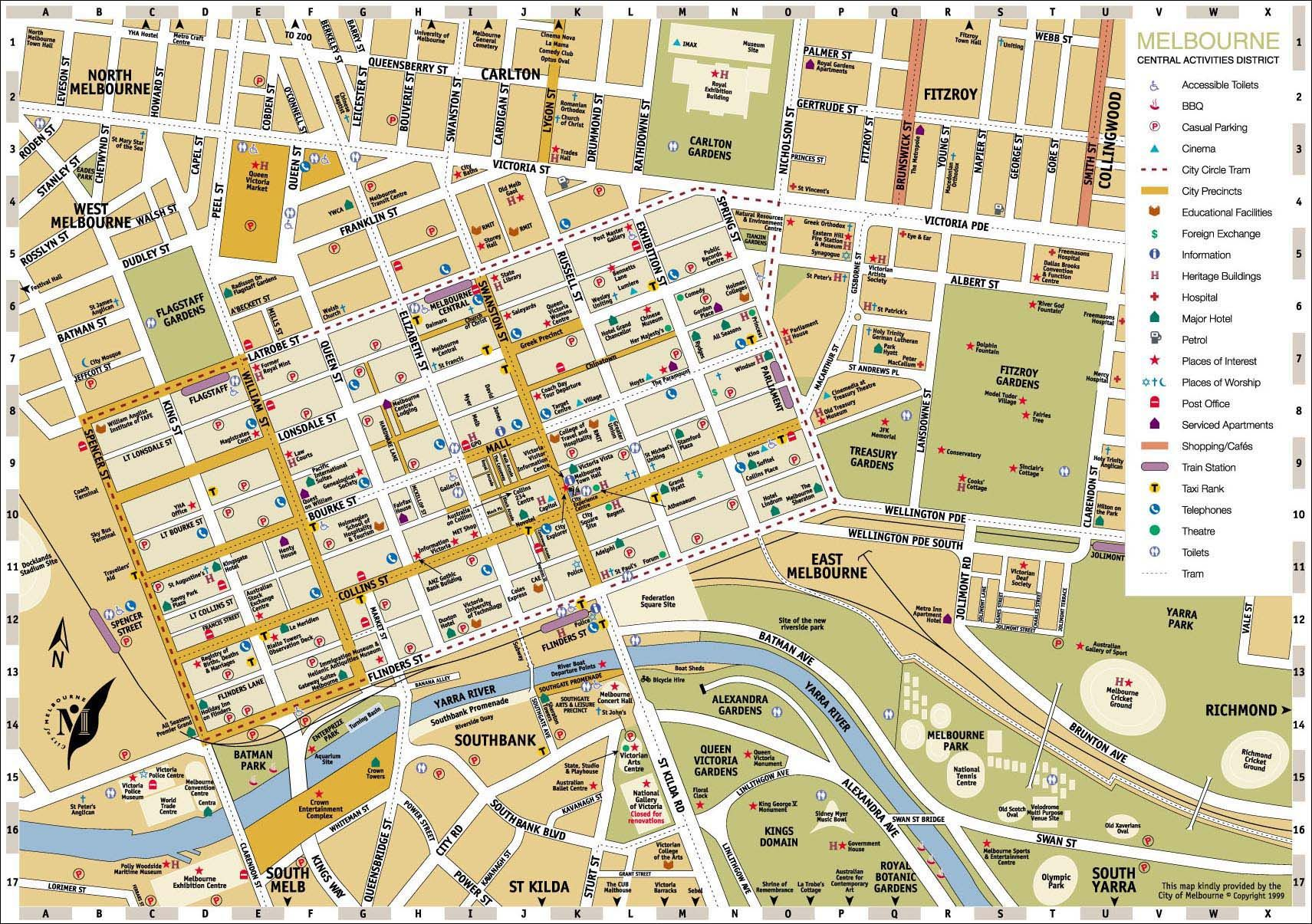 Helpful map of Melbourne Metro maps Pinterest Melbourne
