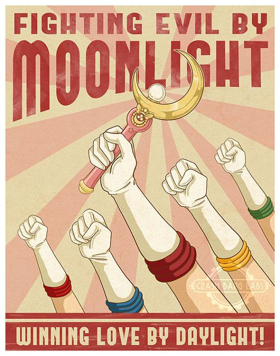 8x10 Fighting Evil By Moonlight Propaganda Poster by crashbanglabs, $6.00
