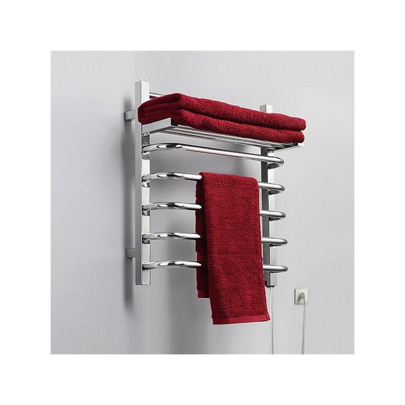 65W Modern Simple Style Towel Warmer Silver Wall Mounted