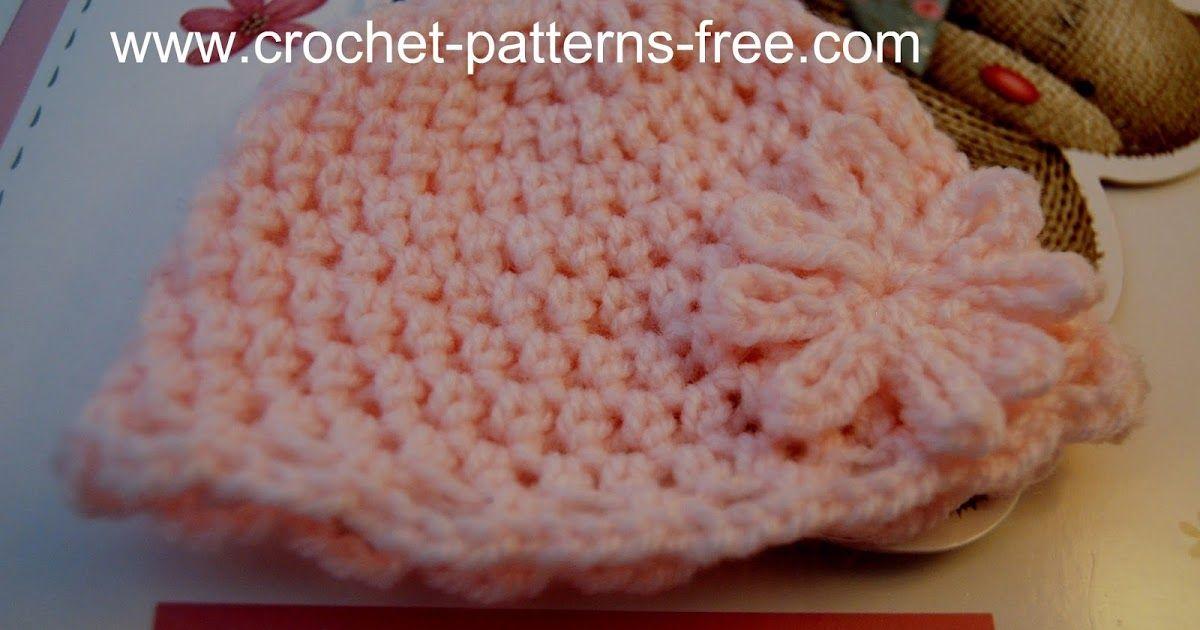 Free Crochet Pattern For Newborn Baby Beanie Hat Crochet Hats And