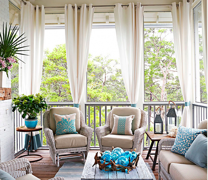Second Home Decorating Ideas: Beautiful, Casual Coastal Porch In This Empty Nester