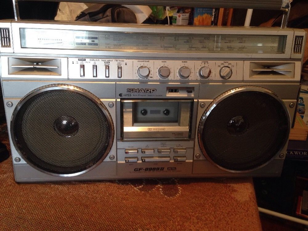 Pin On Old School Portable Music Boombox
